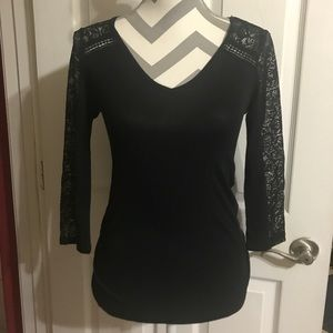 Ambiance Black with 3/4 lace sleeves